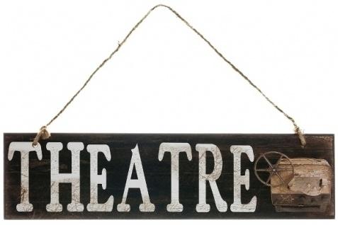 Holzschild Theatre MDF Mehrfarbig