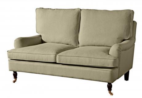 Couch Sofa Textilsofa Polstersofa 2-Sitzer Klavierfüße weich bequem Zweisitzer