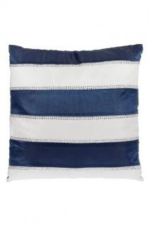 Kissen Maritim Baumwolle&Polyester Weiß&Blau