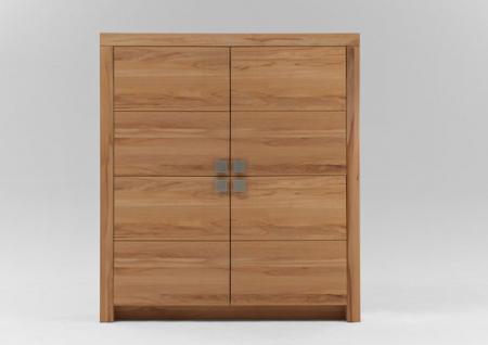 Highboard Schrank 4-trg Wohnzimmer Kernbuche oder Wildeiche massiv Livos geölt
