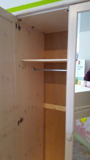 Kleiderschrank Schrank 3-trg. Kiefer massiv weiss lasiert Kinder - Jugendzimmer - Vorschau 4