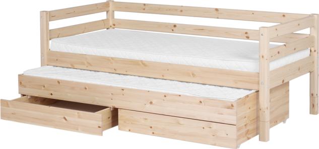 Flexa Classic Bett Einzelbett Kinderbett Jugendbett Ausziehbett Kiefer massiv