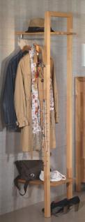 Garderobe Kleiderhaken Regalfach Hutablage Taschenablage massive kernbuche