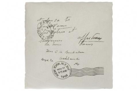 Kissen Postcard Baumwolle Weiß