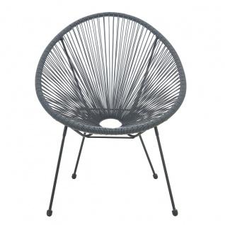 Stuhl runde Sitzschale 2er-Set Polyethylen Grau