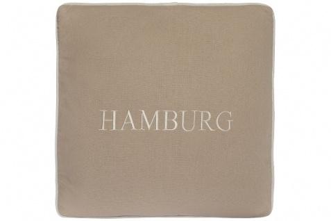 Kissen Hamburg Baumwolle Beige