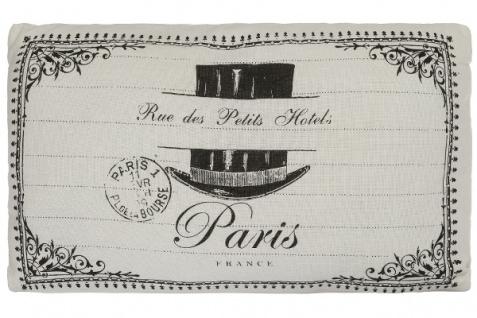 Paris Kissen Petit Hotel Baumwolle Weiß&Schwarz