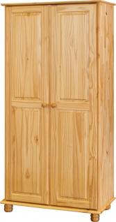 Kleiderschrank Kiefer massiv Natur lackiert 2 Türen
