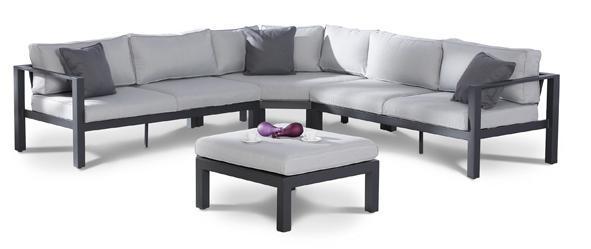 Lounge-Gruppe Loungemöbel Gartengarnitur Lounge-Set 4-tlg Gartenmöbel Gartensofa
