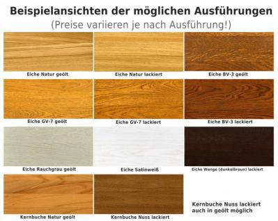 Sitzbank Bank Küchenbank Esszimmer Eiche massiv geölt satin weiß Leder - Vorschau 4