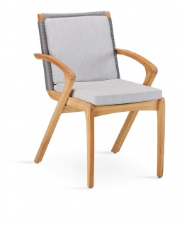 Agadir Dining Rückenkissen für Sessel Acryl Grau