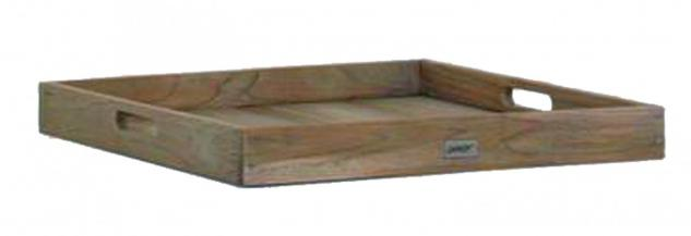 Tablett Serviertablett Ablage Teak Teakholz massiv Patine grey wash Old
