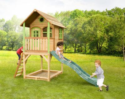Spielhaus mit Rutsche Sandkasten Holzspielhütte hoch TÜV geprüft Garten Zeder - Vorschau 2