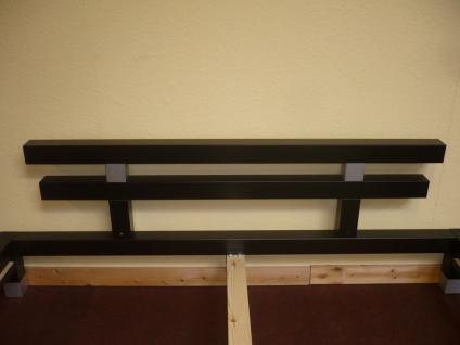 Futonbett Bett Einzelbett 160x200 mit Rosten und Matratze Komplettset schwarz - Vorschau 4