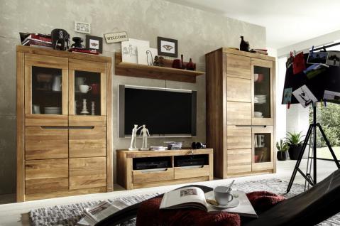 Wohnwand Kombination Wohnzimmer Set Wildeiche Massiv Natur Oder Bianco Geölt