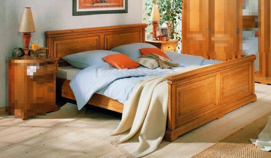 Bett Doppelbett Ehebett Holzbett Fichte massiv antik gewachst 180x200 vintage