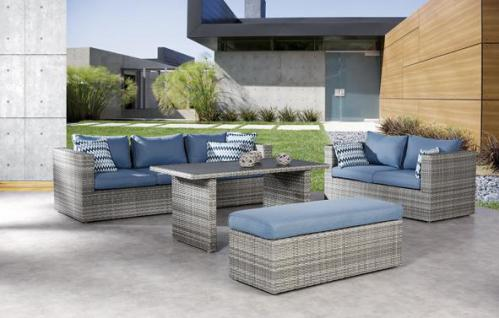 Loungegarnitur Lounge-Set Lounge-Gruppe Gartengarnitur Gartenmöbel Gartensofa
