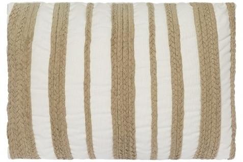 Kissen Rope Baumwolle&Polyester Weiß&Beige