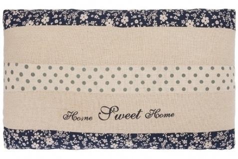 Kissen Home Sweet Home klein Baumwolle Weiß&Blau