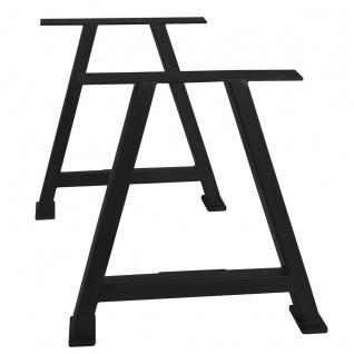 TOPS&TABLES Tischgestell Stahl Antikschwarz