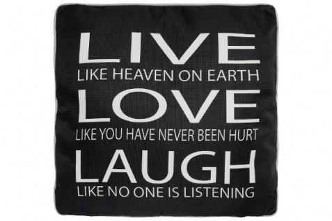 Kissen Live like Heaven Baumwolle&Polyester Schwarz