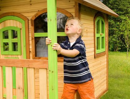 Spielhaus Holzspielhaus Hütte Spielhütte mit Veranda Zeder stabil TÜV geprüft - Vorschau 4