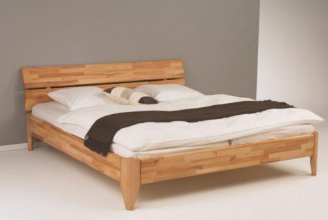 Bett Ehebett Überlänge Kernbuche massiv geölt Traumbett Wunschbett