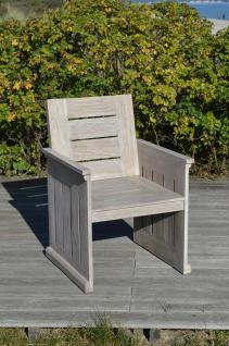Sessel Gartensessel Gartenstuhl Stuhl Teak FSC grau Gartenmöbel Relaxsessel
