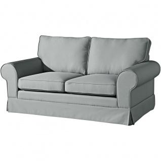 Hillary Sofa 2-Sitzer (2-teilig)Flachgewebe Leinenoptik Grau Kunststoff