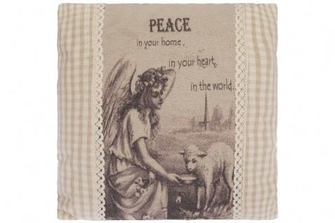 Kissen Peace Quadratisch Baumwolle&Polyester Beige
