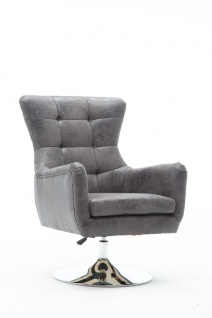 SIT&CHAIRS Sessel Stahl Polyurethan Grau