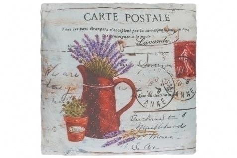 Kissen Carte Postale Baumwolle&Polyester Bunt