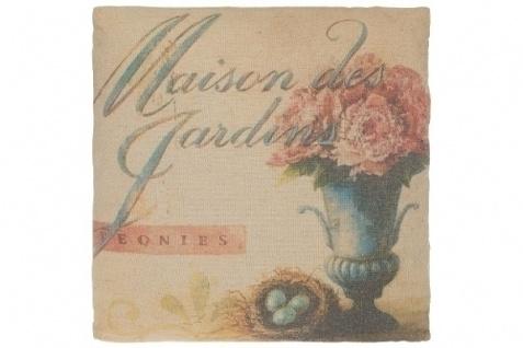 Kissen Maison des Jardins Baumwolle&Polyester Bunt