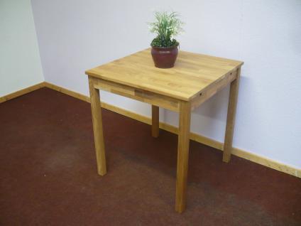 Esstisch Esszimmertisch Küchentisch Tisch 70x70 cm Wildeiche massiv geölt - Vorschau 3
