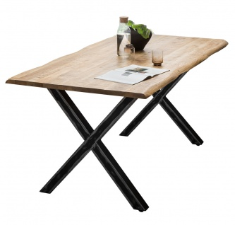 TABLES&Co Tisch 160x85 Mangoholz Natur Eisen Schwarz