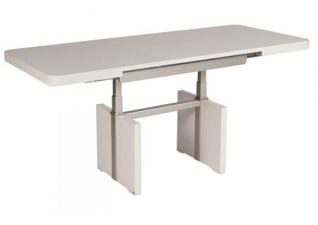 Büro Schreibtisch Dekor Weiß 68x110-150