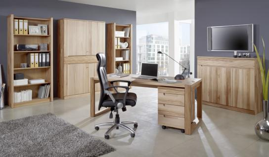 Büro Arbeitszimmer Set Kernbuche massiv geölt made in Germany