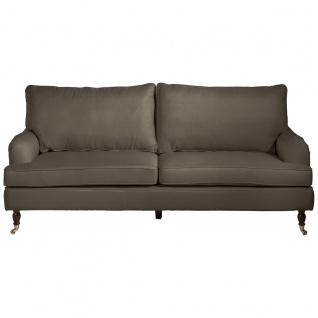 Passion Sofa 3-Sitzer Flachgewebe Sahara Buche Nussbaumfarben