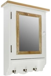Spiegelschlüsselschrank Provence MDF Holz&Weiß