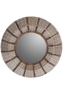 Spiegel Amira rund Metall&Holz Silber