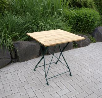 Gartentisch Klapptisch Tisch Quadratisch Gartenmöbel Biergarten Robinie Stahl
