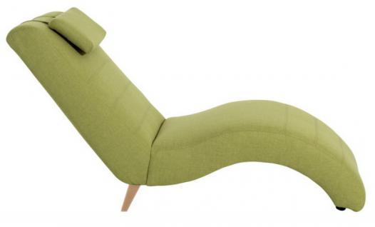 Relaxliege Liegesessel Liege Leinenoptik geschwungene Form relax rot grün braun