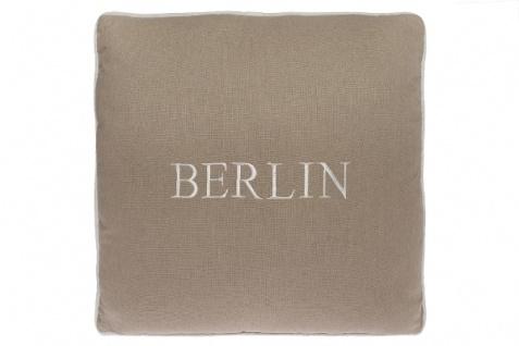 Kissen Berlin Baumwolle Beige