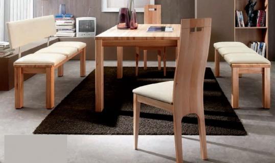 Essgruppe Essbankgruppe Bank Tisch Stühle Sitzbank Kernbuche massiv Leder