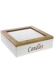 Kasten Candles Provence MDF Holz&Weiß
