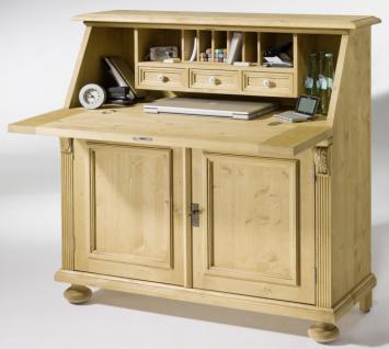 Sekretär Arbeitszimmer Fichte massiv antik shabby Landhaus vintage Kugelfüße - Vorschau 1