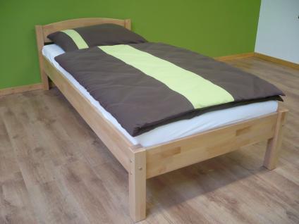 Einzelbett Bett Gästebett Jugendbett Buche massiv natur lackiert versch. Größen