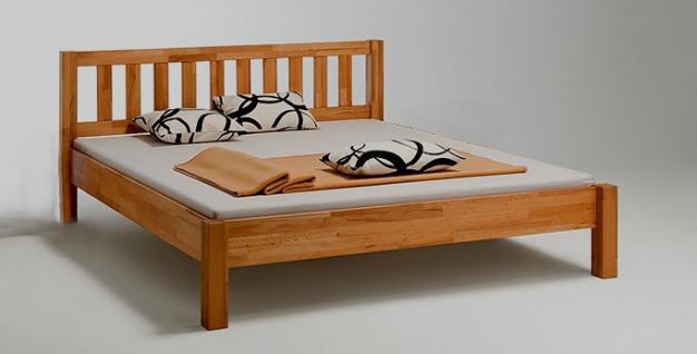 Bett Jugendbett Doppelbett Schlafzimmer Kernbuche massiv geölt in versch. Größen