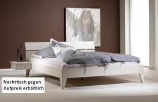 Bett Systembett Ehebett Kiefer massiv weiß lackiert Überlänge möglich