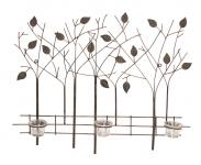 Metall-Wandbild Wanddeko Teelichthalter Wandbild Metalldeko Kerzenhalter